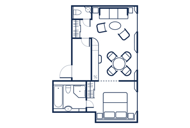 Admiral Suite Layout